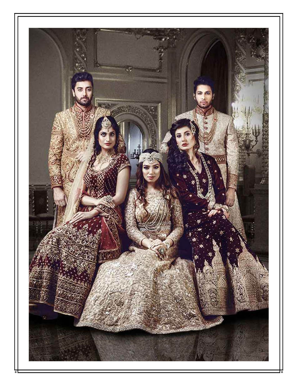 Bridal trousseau with intricate Resham, Zardozi and Parsi details