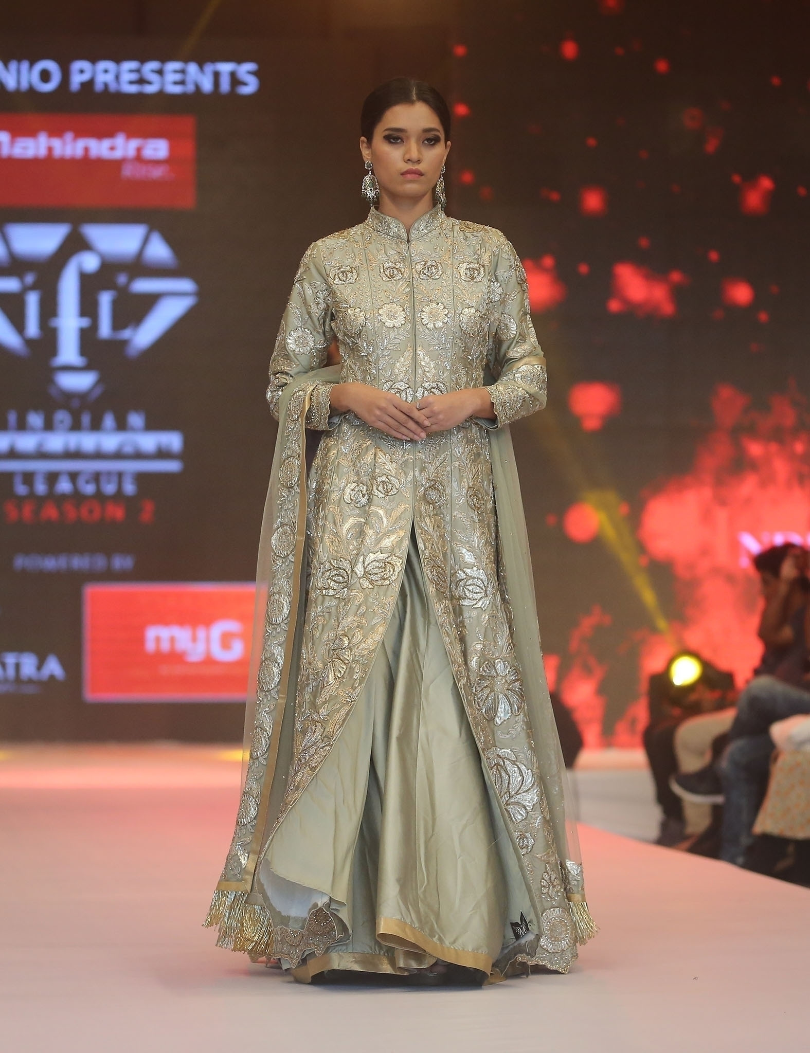Pastel Green Indo-Western Gown