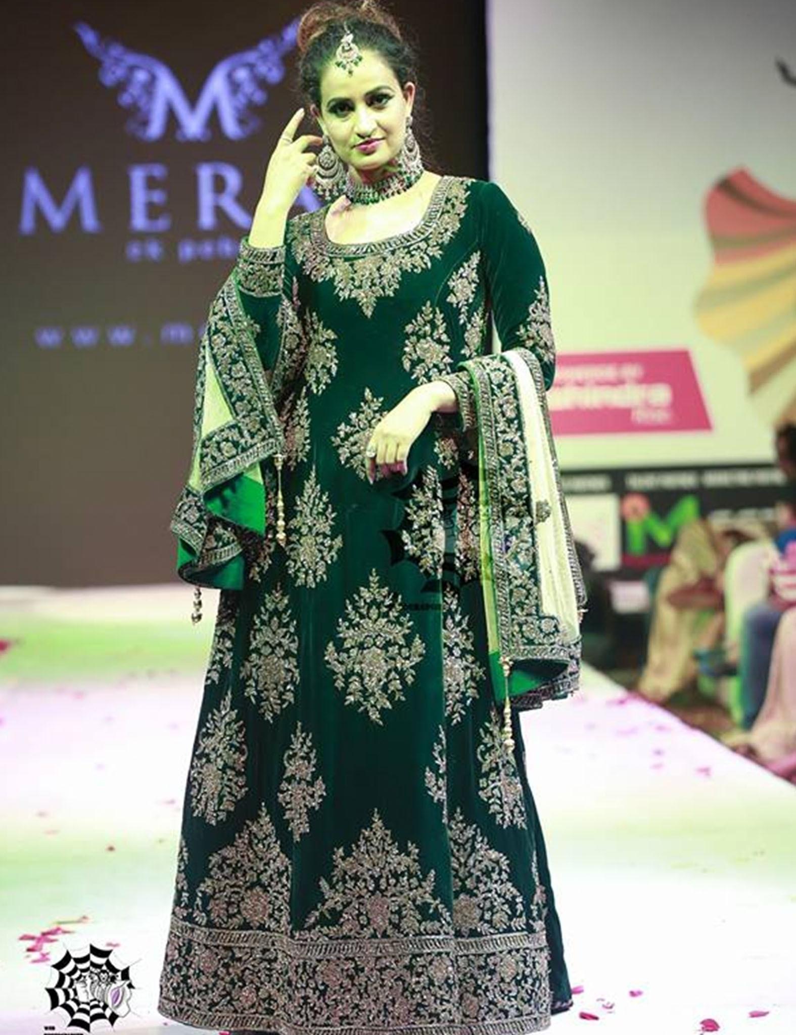 Deep Green Velvet Gown