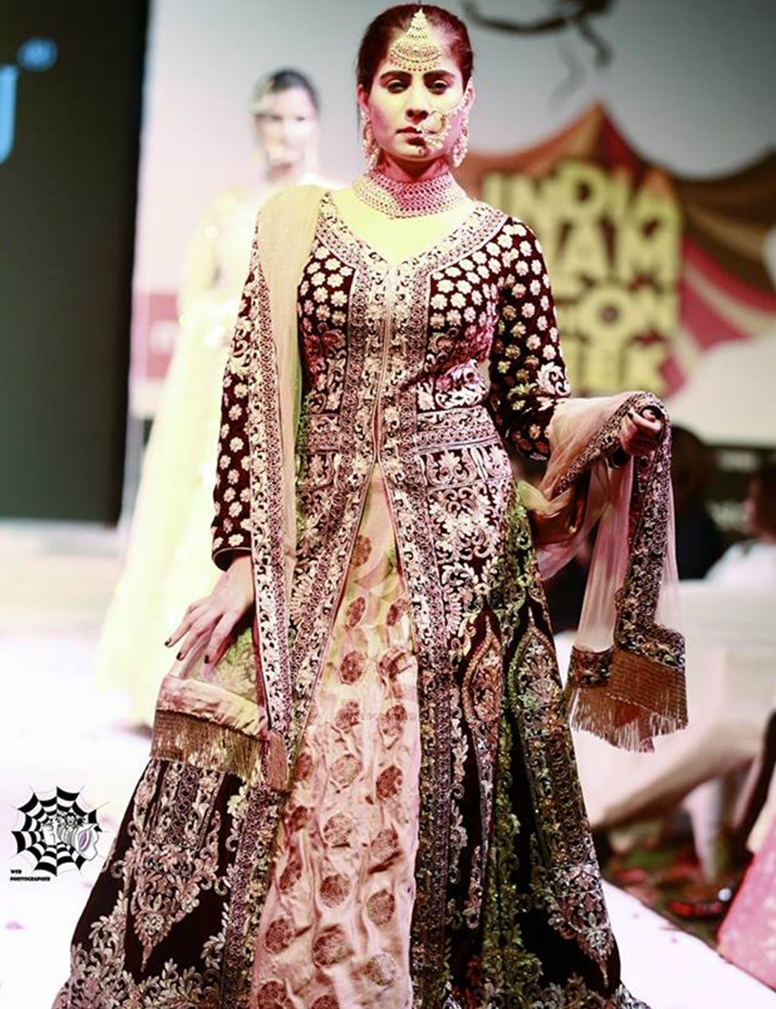 Gold Embroidered Indo-Western Set