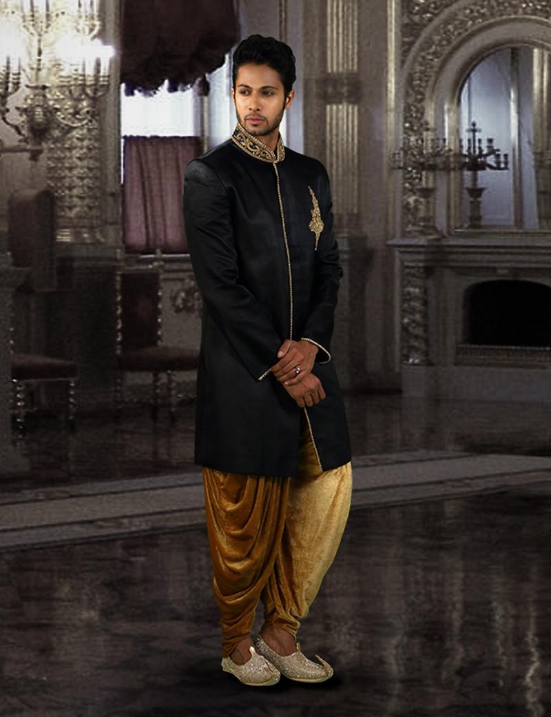 Eternal Black Indo-Western
