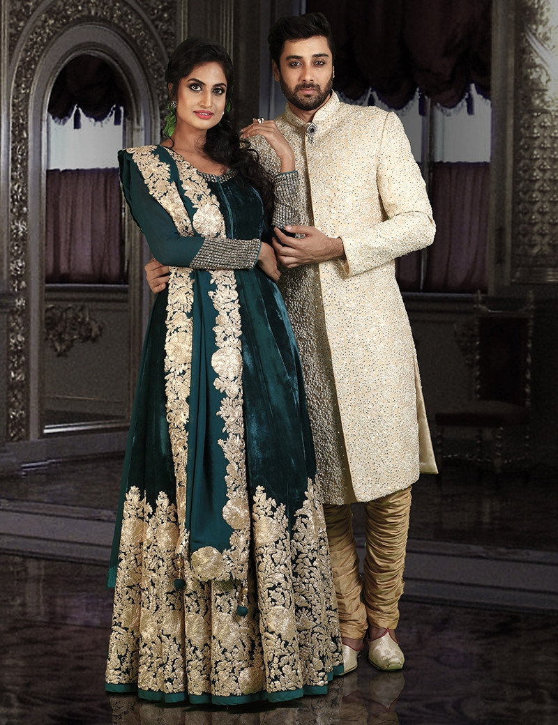 Gorgeous Gown & Stunning Sherwani Couple