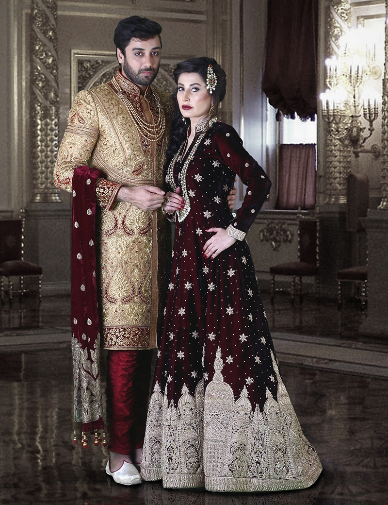 Royal Bride and Groom Melange