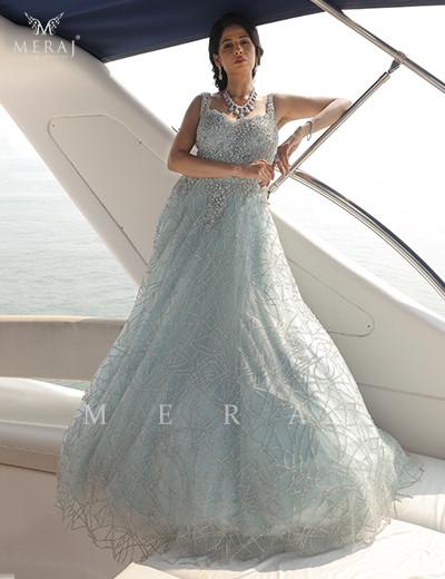 Soft Aqua Blue Gown