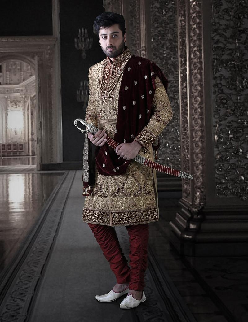 Elegant Silk Sherwani