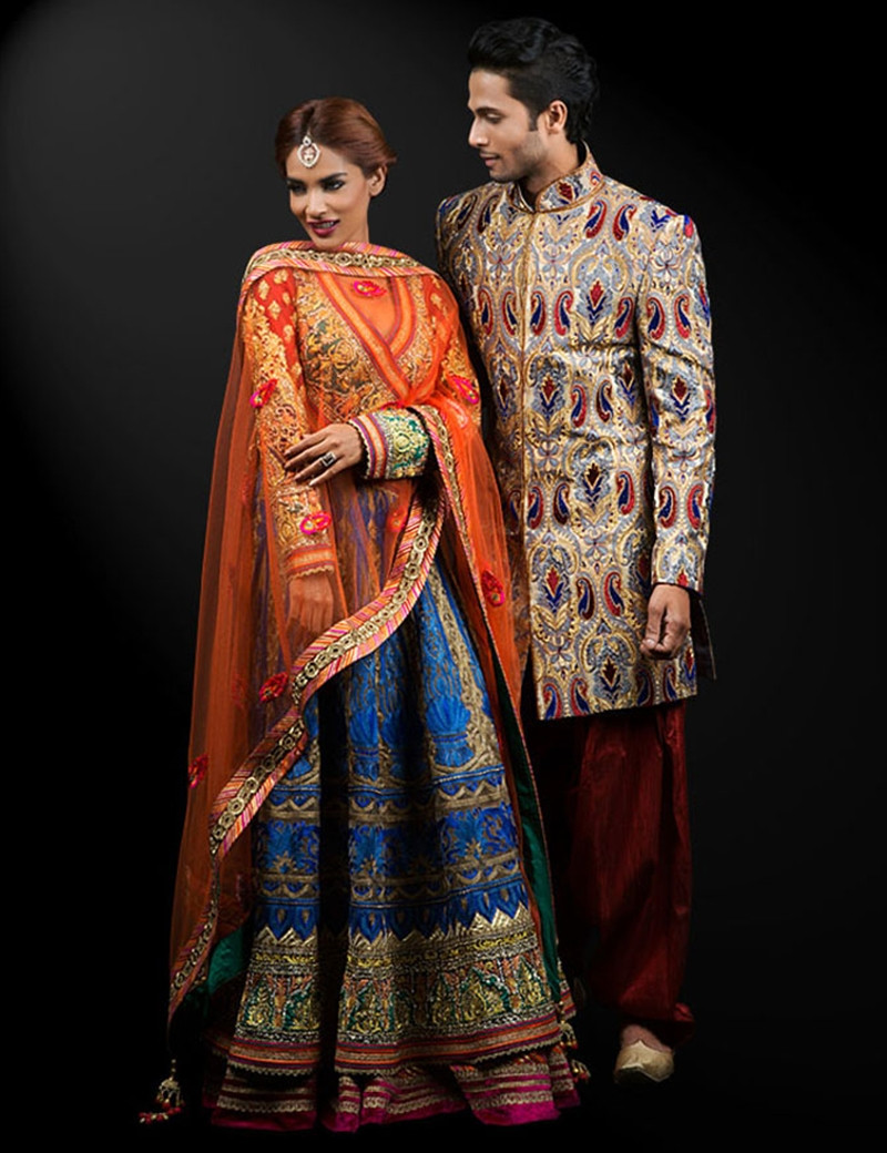 Magnificent Multi-Colored Traditional Outfit