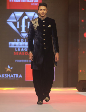 Elegant Black Indo Western