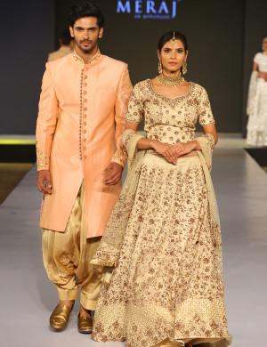 Elegant Lehenga & Indo-Western Couple Outfit