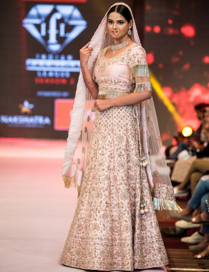 Gorgeous Baby Pink Designer Lehenga Choli