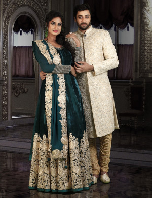 Gorgeous Gown & Stunning Sherwani Couple