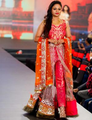 Pink Banarasi Indo-Western Pant