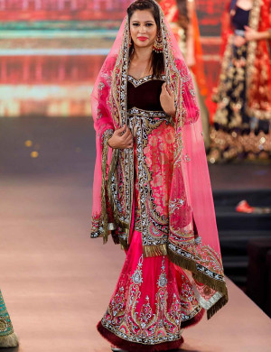 Pink And Maroon Sharara Set
