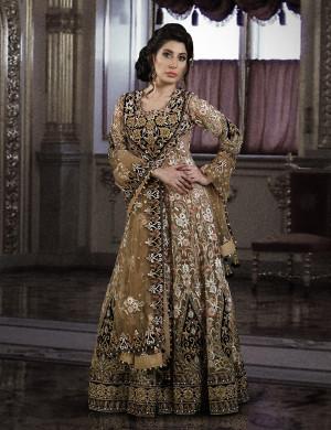 The Royal Bridal Chiffon Gown with Dupatta