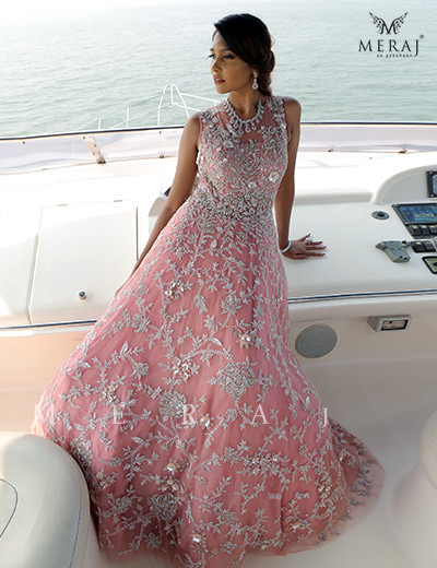 Rosette Pink Gown
