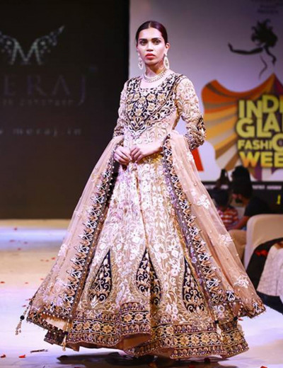 Parsi Work Embroidered Gown