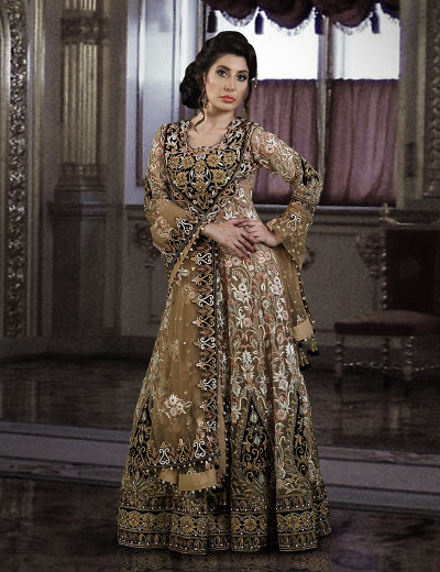 The Royal Bridal Chiffon Gown with Dupatta